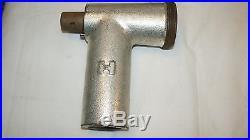 1 lot 17 HOBART Meat Grinder Parts Auger, Blades, Plates, Pan, Forks, Head Cylinder