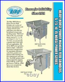 2018 BIRO 5HP commercial MEAT GRINDER model 548 HOBART