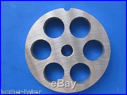 #22 4 pc SET Meat Grinding plates discs Sausage Kidney disc for Hobart Torrey 22