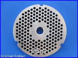 #32 3/16 (4.5mm) STAINLESS Meat Grinder Plate for Hobart 4332 4532 TorRey etc