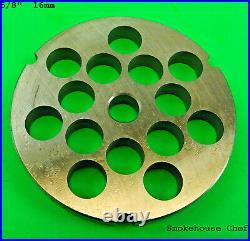 #32 PICK SIZE with KNIFE Meat grinder plate disc LEM Cabelas Hobart Weston etc