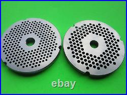 #32 x 1/8 & 3/16 holes Meat Grinder Plates for Hobart LEM Cabelas Biro etc