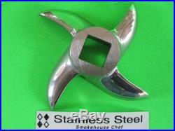 8 pc size #22 Meat Grinder plate knife for Hobart 4222 8422 4822 Weston LEM