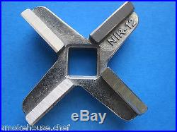 COMBO SET #12 x 1/2 S/S Meat Grinder Chopper Hobart Plate AND new KNIFE