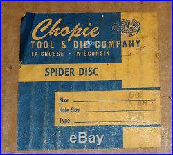Chopie Tool & Die Meat Grinder Plate Die Size #66 8-1/2 diameter 3/8 holes