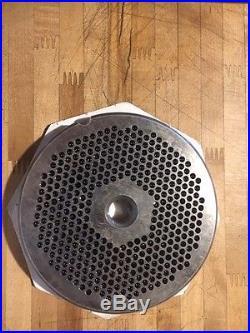 Commercial Meat Grinder Plate 56 Triumph 3/16 Holes hobart 4056