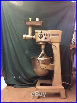 D 300T hobart mixer with bowl paddle and meat grinder