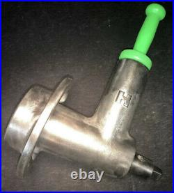 Genuine HOBART Size #22 Meat Grinder Attachment With Brand New Stomper