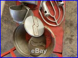 Genuine Hobart 30qt Mixer with Bowl, Whisk, Meat Grinder Plus Accessories LOOK