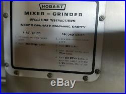 Genuine Hobart Meat Grinder/Mixer Model 4346 Control Panel & Components 3 Phase