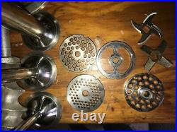 Grinder #12 Hub Size Meat Grinder Attachment For Mixer Auger withplates and tubes