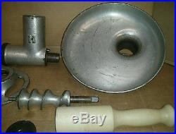 Hobart # 12 Meat Grinder Complete With Pan. Great Shape