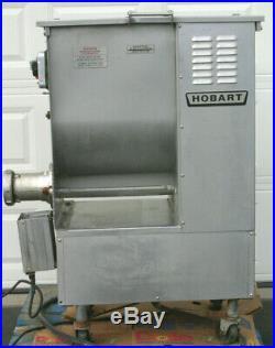 HOBART 4246HD Commercial Butcher Shop Hamburger Meat Grinder Mixer With Foot Pedal