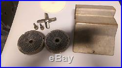 Hobart 4346 Meat Grinder Mixer Self-feed Sausage Beef Extra Knife Grinding Plate