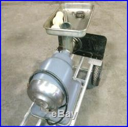 HOBART COMMERCIAL KITCHEN MEAT GRINDER MODEL 4312 With ACCESSORIES