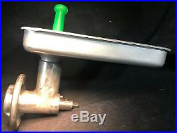 HOBART MEAT GRINDER ATTACHMENT with Pan & Brand New Stomper. Size #12 Our #2
