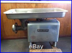 HOBART MEAT GRINDER M# 4822 with 36 PAN & 2 STOMPERS