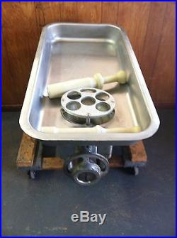 Meat Grinder For Sale >> HOBART MEAT GRINDER M# 4822 with 36 PAN & 2 STOMPERS