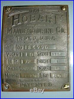 Hobart 134776 Meat Grinder Size 22 Attachment 110 Volt 1/2 HP 3 Plates Knife