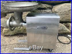 Hobart 1/2 HP Gear Driven Complete Meat Grinder, 115v, Used, Works, Plus Extras