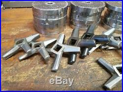Hobart #32 x 1/8 Meat Grinder Plates and knives lot. One lrice for all