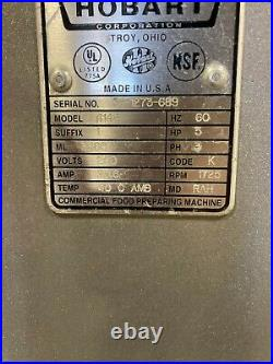 Hobart 4146 Meat Grinder 5 Horsepower WORKS GREAT