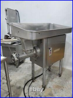 Hobart 4146 Meat Grinder Single Phase 220V Variable Speed Stainless Top