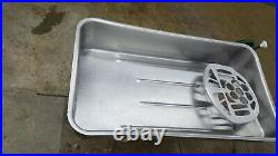 Hobart 4152 Stainless Meat Grinder Pan Nice Hard To Find