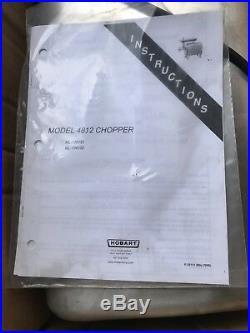 Hobart 4812 Meat Grinder / Chopper 120 V 1/2 hp