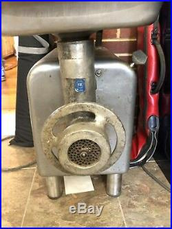 Hobart 4812 Meat Grinder Ready to work. Needs A Good Cleaning