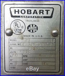 Hobart 61 Patty Maker Hamburger Former Meat Grinder Attachment