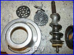 Hobart Brand Meat Grinder Hub Attachment Size #12 Commercial 2 Plates Knife Top