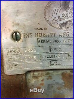 Hobart Commercial Meat Grinder Model 4322 220 Volts