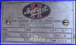 Hobart Countertop Commercial Meat Grinder Chopper VTG