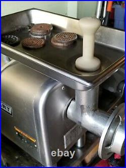 Hobart Meat Grinder #4822-Funnel Head, Large Pan