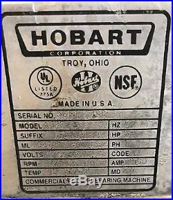 Hobart Meat Grinder Model 4822