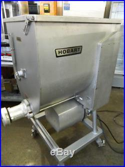Hobart Model 4346 #46 Meat Grinder / Mixer 7.5hp Motor Foot Pedal 215 Lb Hopper