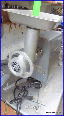 Hobart PD35 Meat Grinder Used With New Grinder Attachment 2 Knives 2-Plates Horn