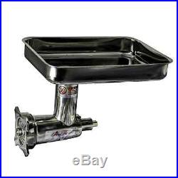 Hobart-Style Meat Grinder Chopper Attachment, Stainless Steel #12 Hub, (2) Grind