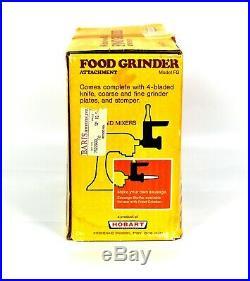 KITCHENAID Vintage Food Chopper Meat Grinder Attachment Hobart FG Metal Rare