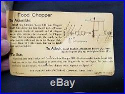 KITCHENAID Vintage Metal Food / Meat Grinder Attachment Hobart Model FG