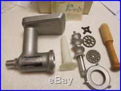 kitchenaid hobart meat grinder food chopper attachment all metal complete