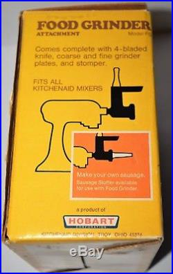 Kitchen Aid Hobart Meat Grinder Food Grinder Attachment Metal vintage