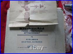 NEVER USED MEDAL Vintage KitchenAid Hobart Food Chopper Meat Grinder FG