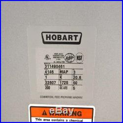 NEW Hobart 4146-1 5HP Meat Grinder, 46PAN-TINR/H Pan with 46End-Tin End Attachment