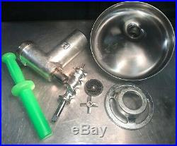 Nearly New Genuine HOBART Size #12 Meat Grinder Attachment /w Pan. Item ID 4BRP