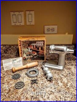 New Kitchen Aid Food Grinder Hobart Model FG Vintage METAL Mixer Attachment