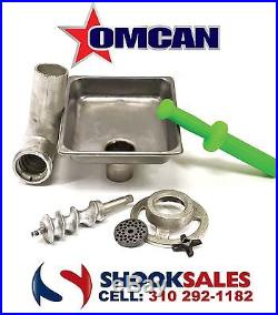 Omcan 10058 Commercial #22 Meat Grinder Attachment Fits #22 Hub On Hobart Mixers