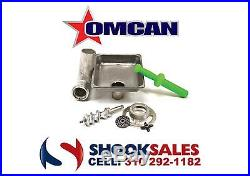 Omcan 27142 #12 Stainless Steel Meat Grinder Attachment Hobart Mixers