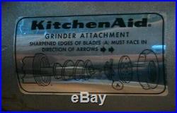 RARE KitchenAid FG Food Chopper Meat Grinder METAL Attachment Hobart Mixer